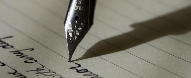 Photo of writing